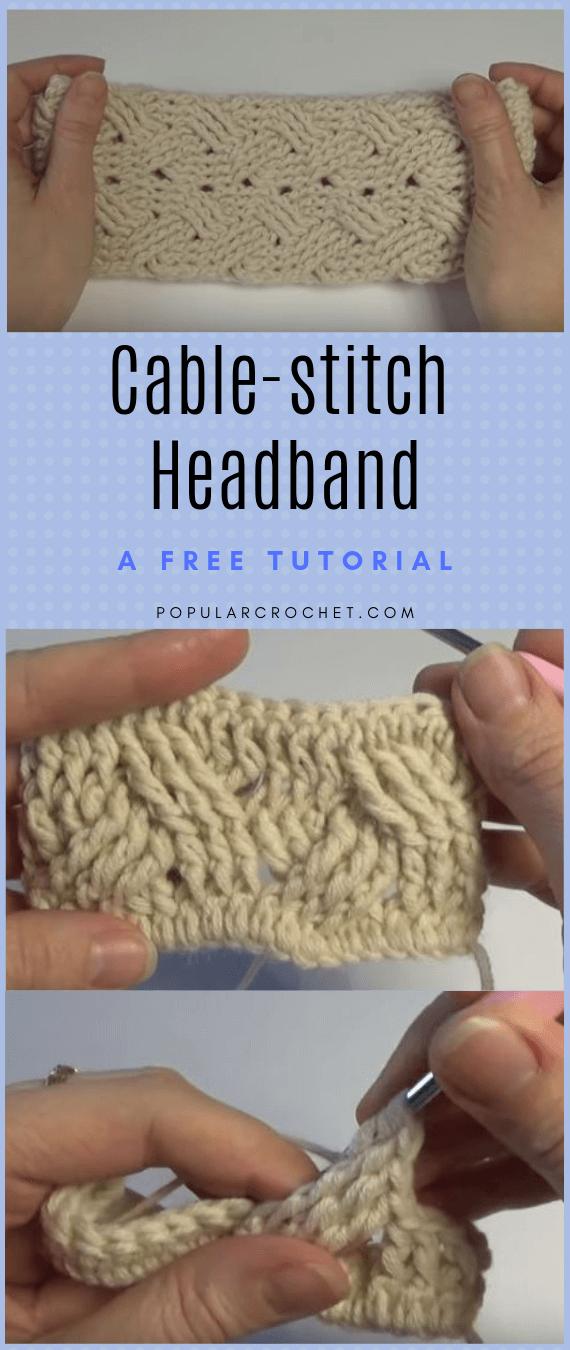 Cablestitch Headband popularcrochet.com #popularcrochet #crochet #cablestitch #headband #freecrochettutorial