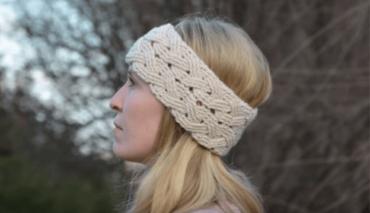 Cable-stitch Crochet Headband 6