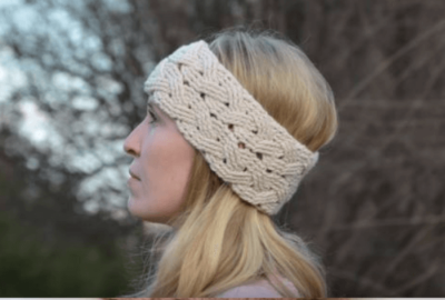 Cable-stitch Crochet Headband 2