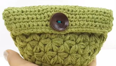 Jasmine Crochet Stitch Mini Pouch 3