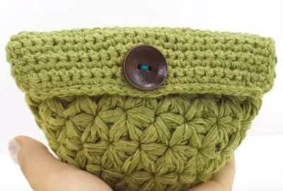 Jasmine Crochet Stitch Mini Pouch 8