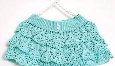 How to crochet a ruffle skirt 7