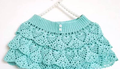 How to crochet a ruffle skirt 1