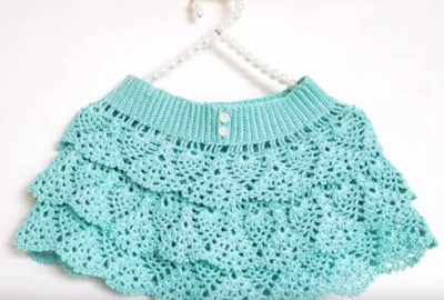 How to crochet a ruffle skirt 7