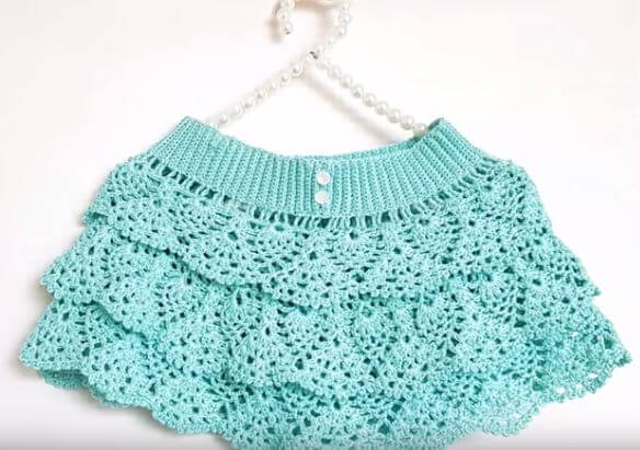 How to crochet a ruffle skirt 5