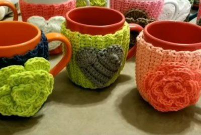 Crochet cupwarmer 7