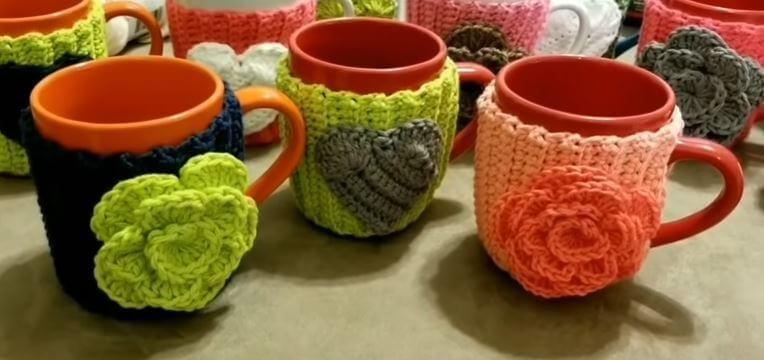 Crochet cupwarmer 4