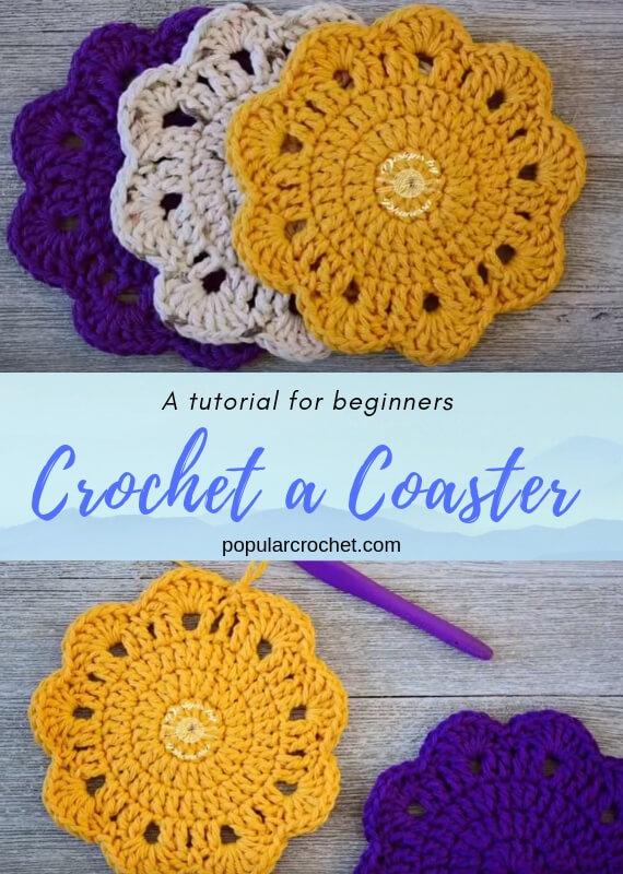 Crochet a Coaster popularcrochet.com #popularcrochet #crochet #coaster #freecrochetpattern