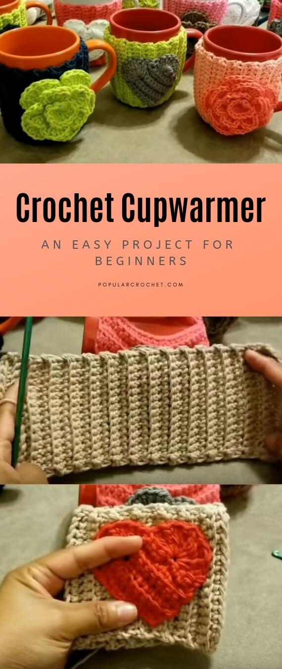 Crochet cupwarmer popularcrochet.com #popularcrochet #crochet #cupwarmer #freecrochet #freecrochetpattern