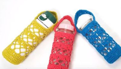 How to crochet a water bottle holder 2