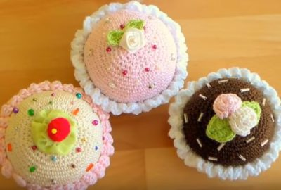 How to crochet cupcakes 1