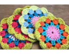 Crochet Spring Tea Coaster 1