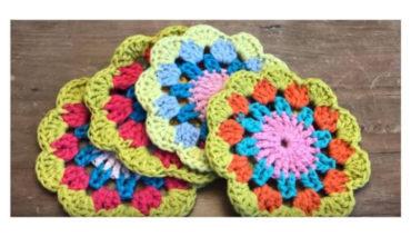 Crochet Spring Tea Coaster 10