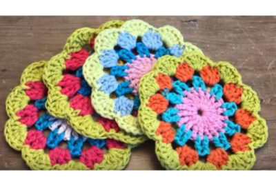 Crochet Spring Tea Coaster 2