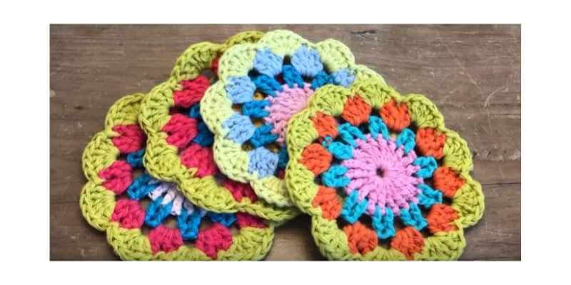 Crochet Spring Tea Coaster 23