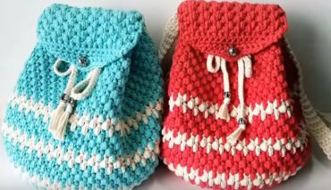How to crochet a backpack 9