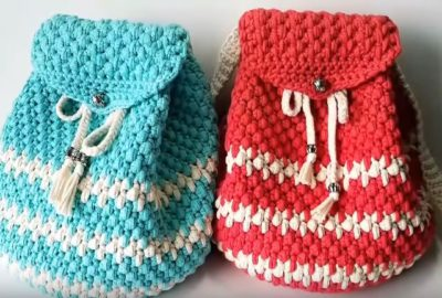 How to crochet a backpack 7
