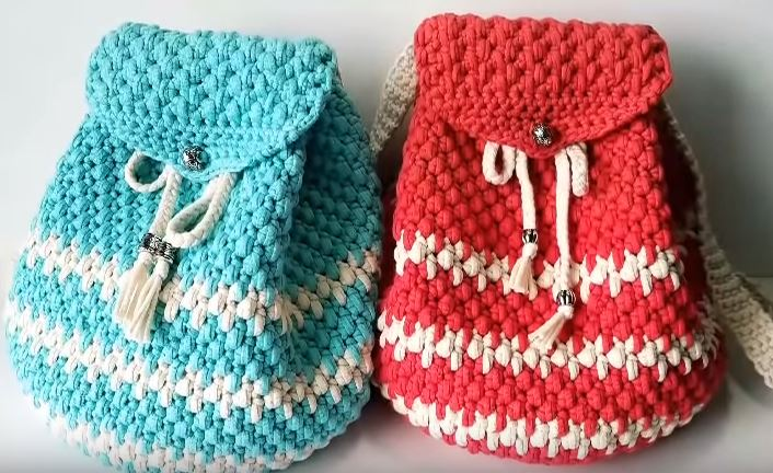 How to crochet a backpack 12