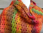 How To Crochet an Autumn Shawl 12