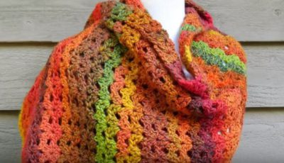 How To Crochet an Autumn Shawl 1