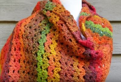 How To Crochet an Autumn Shawl 2