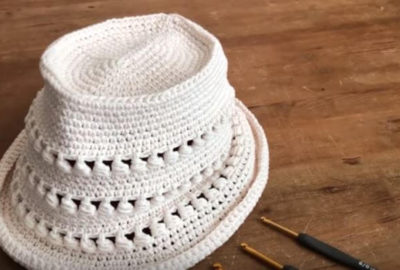 How to crochet a Summer Hat 6