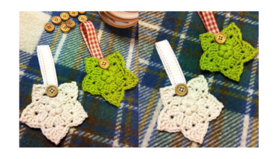 Crochet Christmas Star decorations 4