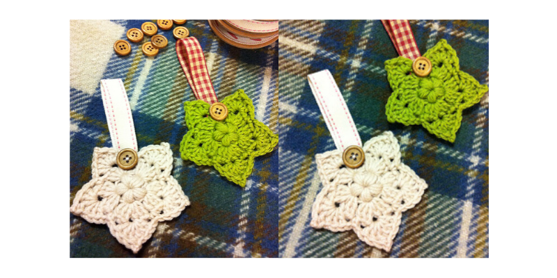 Crochet Christmas Star decorations 13