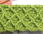 Diamond crochet stitch 7