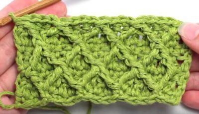 Diamond crochet stitch 2