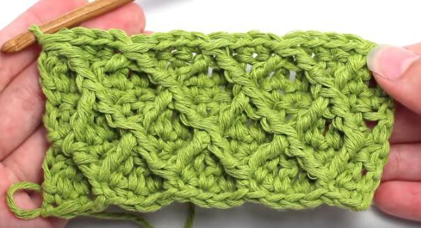 Diamond crochet stitch 19