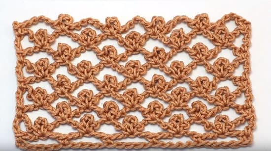 The Picot Trellis Crochet Stitch 16