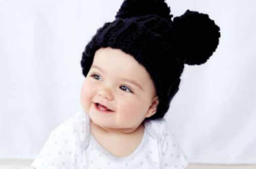 Adorable Pom Pom Crochet Hat 1