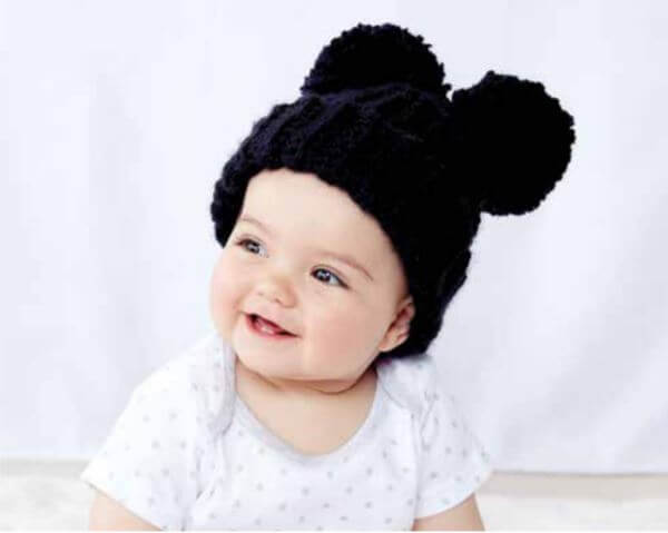 Adorable Pom Pom Crochet Hat 5