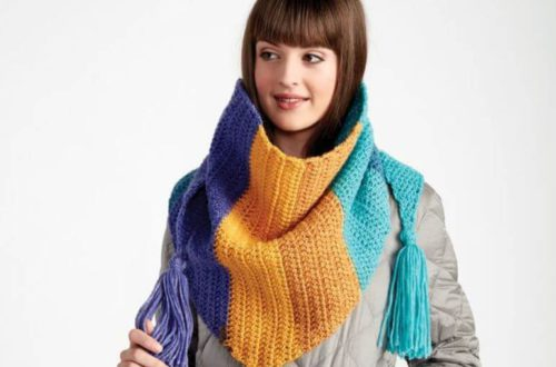 Colorful Kerchief Crochet Scarf 5